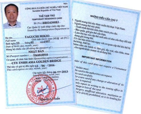 Điều kiện để được cấp thẻ tạm trú