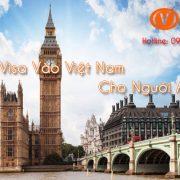 Xin visa vào Việt Nam cho người Anh