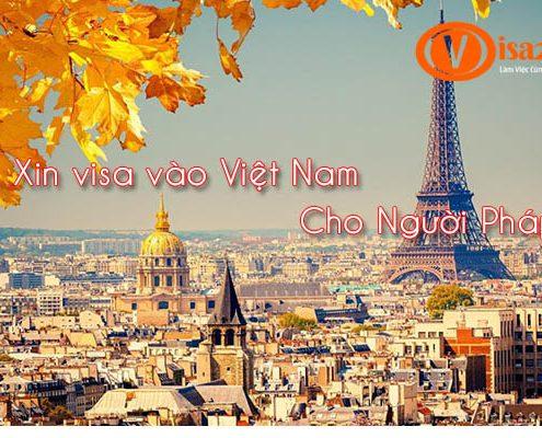 Xin visa Việt Nam cho Người Pháp