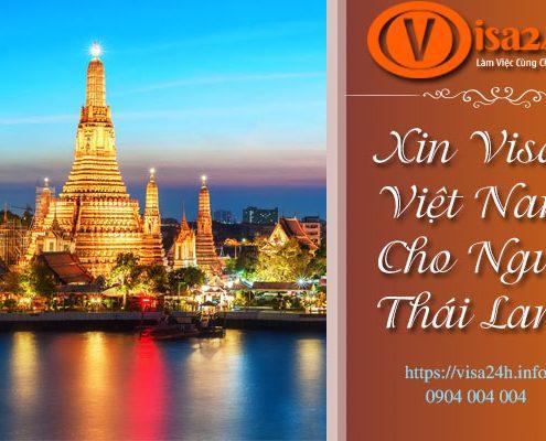 Xin Visa Việt Nam Cho Người Thái Lan