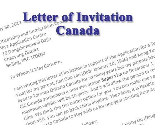 Mẫu thư mời du lịch Canada