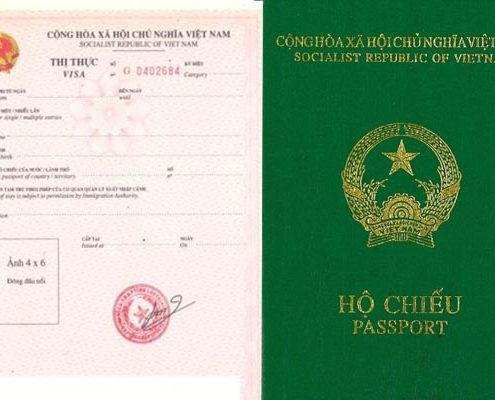 Thị thực rời và hộ chiếu