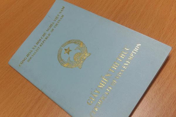 Giấy miễn thị thực, một trong những giấy tờ cư trú ở Việt Nam