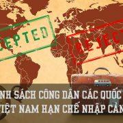 Danh sách công dân các quốc gia Việt Nam hạn chế nhập cảnh