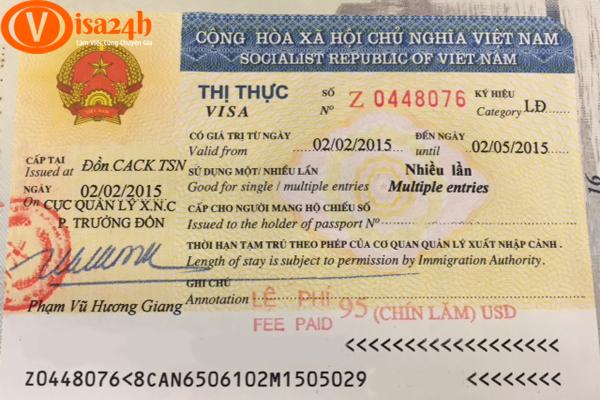 visa lao dong